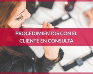 Procedimientos con el cliente